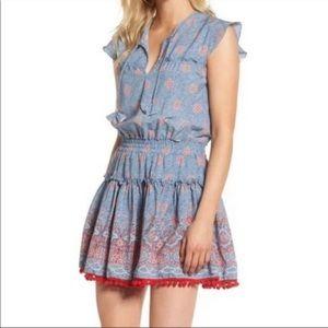 MISA Los Angeles Tatiana blue mini dress